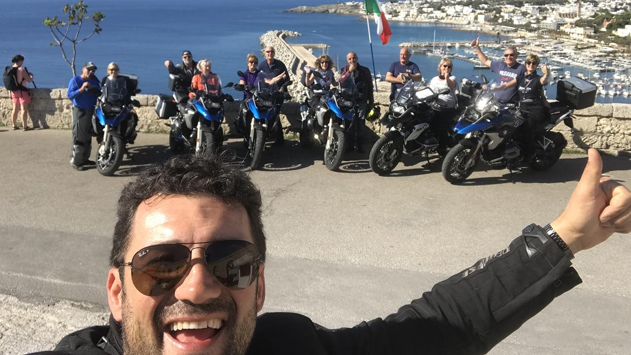 Motorcyclists at the heel of Italy