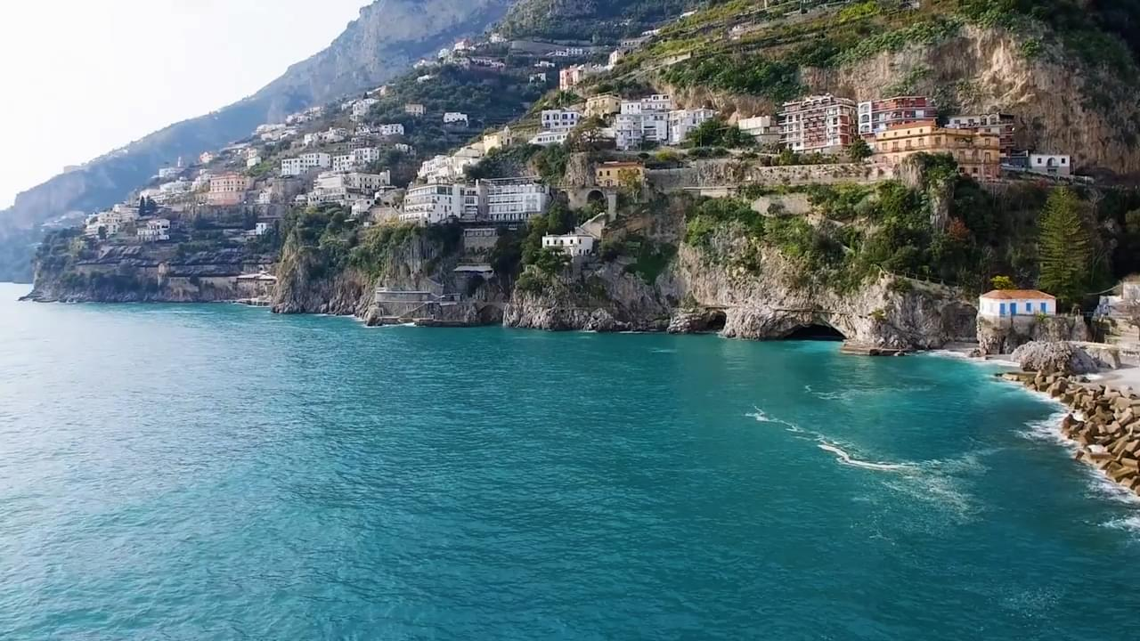 Aerial view of the outstanding Amalfi Coast