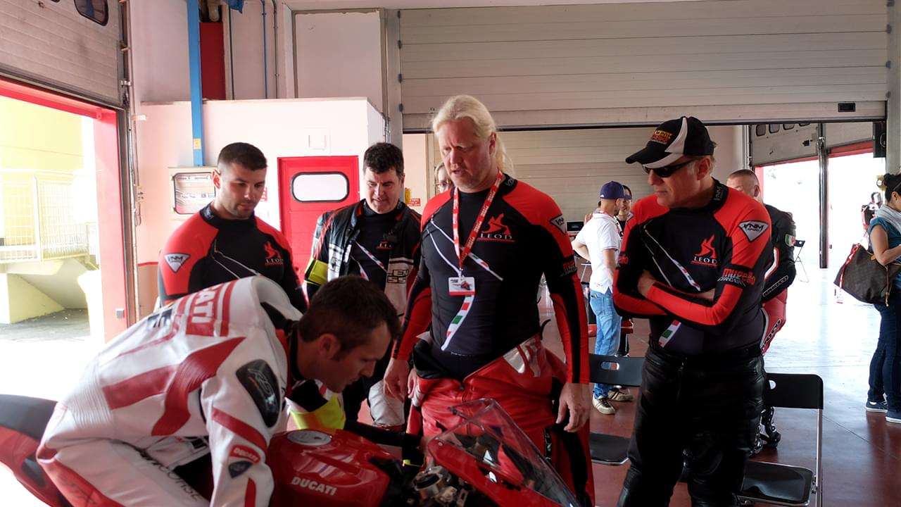 Get instructions from a Ducati teacher
