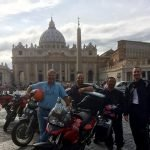 Riders and San peter Cathedral