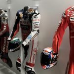 Our heroes track gear at the Ducati Museum