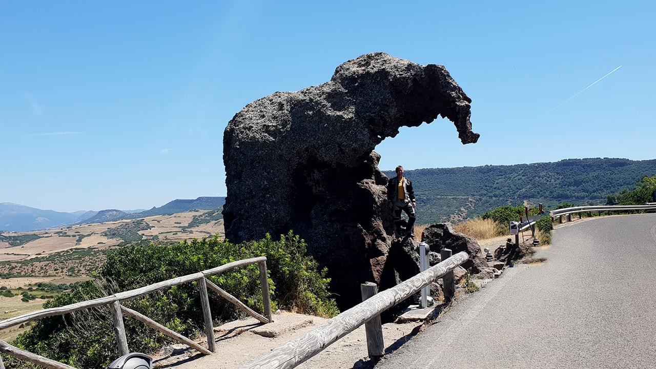 The elephant rock is carved by the wind