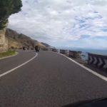 The narrow road along the Amalfi Coast