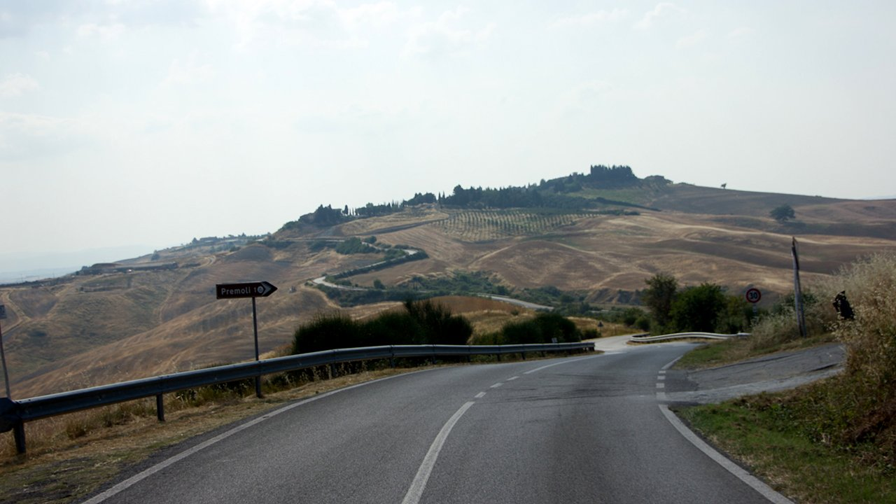 An amazing roads in Tuscany