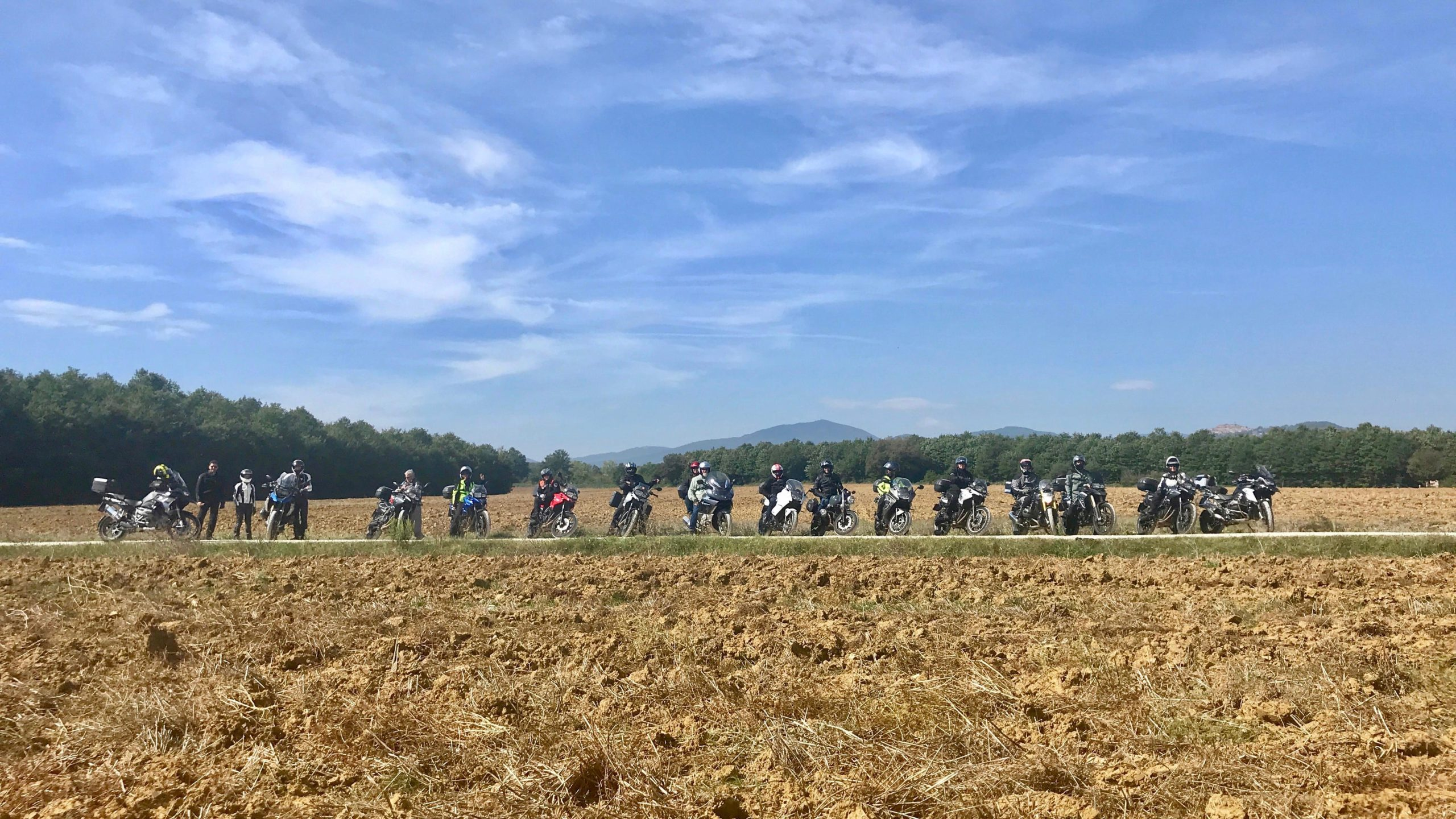 Hear The Road Motorcycle group in an amazing Tuscan landscape