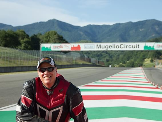 A smile at Mugello track with Motorcycle Tours Italy