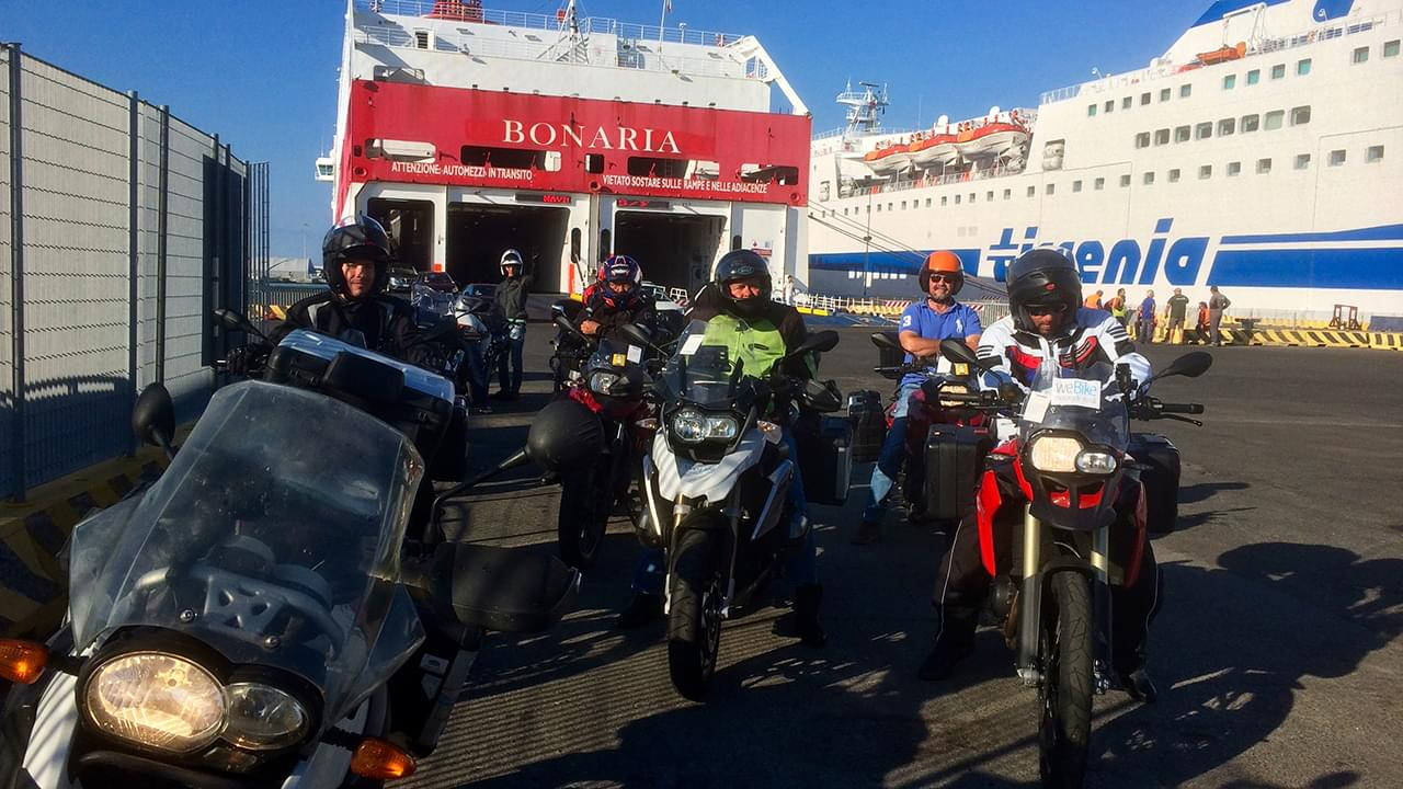 Riders are ready to joint hte unbelievable Sardinian coastline roads